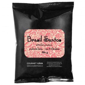 Brazília: Santos, zrnková káva arabica STREDNE PRAŽENÁ
