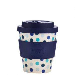 Bambusový hrnček Ecoffee Blue Polka 240ml